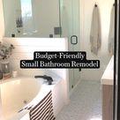 Budget-Friendly  Small Bathroom Remodel