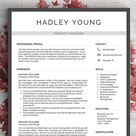 Simple, Professional Resume Template for Word and Pages   1, 2 and 3 Page Resume Template, Cover Letter, CV   Instant Download Resume Design