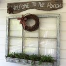 Hand Lettered Country Barnwood Sign: A wooden sign with handwritten letterings is always cozy to look at. Your board doesn't even have to be in perfect dimensions. As long as it's elongated and big enough to put letters on, adding a string and hanging it is enough to make a statement.
