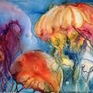 Watercolor Jellyfish