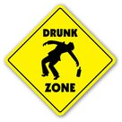 $8.99 - Drunk Crossing Sign Zone Xing 12