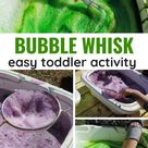 Toddler Fine Motor Whisk and Sieve! - The Empowered Educator