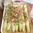 Recept: Ovenschotel met witte asperges en beenham - Savory Sweets