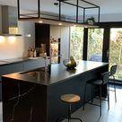 Stalen keukenrek met verlichting van ALEPH120