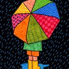 How to Draw an Umbrella   Umbrella Coloring Page