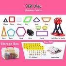 139pcs Mini Magnetic Designer Construction Set Building Block Model & Building Toy Plastic Magnetic Blocks Educational Toys - 139pc magnetic block