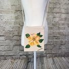 Rose Purse Travel Purse Hand Painted Yellow Rose Small Bags   Etsy