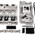 Edelbrock 435Hp Total Power Package Top End Kit for Use On 1955 And Later SB Chevy