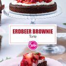 Erdbeer Brownie Torte / SALLYS WELT