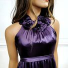 COPY - MELISSA SWEET Silk Flower Halter Empire Dr…