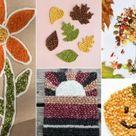Herbst Bilder für Kinder mit Mosaik aus Hülsenfrüchten