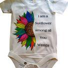 Baby Rainbow sunflower   3 to 6 months
