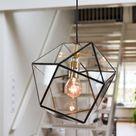 Geometrische lamp Yaz van Hart & Ruyt - 25cm - Zwart - Hanglamp