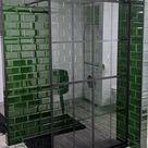 Dusche mit der Metrofliese in