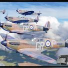 Homeland Formation - Framed Canvas Art with Spitfire Relic - 18x12