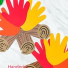 Handprint Campfire Craft
