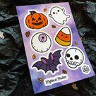 Spooky Halloween Sticker Sheet