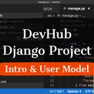 DevHub - Django Project. Custom user model for Django.