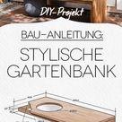 Baumbank für Garten und Terrasse selber bauen