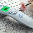 Amplim Hospital Medical Grade Non Contact Clinical Infrared Forehead Thermometer for Baby and Adults, 1701, Serenity