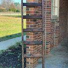 Rustic Farmhouse Blanket Ladder