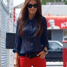 Red Jeans Outfit