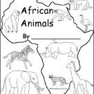 African Animals, A Printable Book