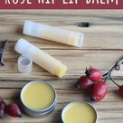 Rose Hip Lip Balm for Soothing Dry Lips