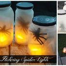 Halloween Diy Flickering Spider Lights