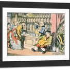 Large Framed Photo. Death and the Apothecary or The Quack