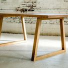 Farm Table  Breakfast Table  Steel Table Legs | Etsy