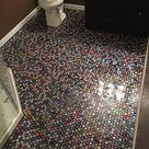 Beer Cap Bathroom Floor