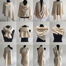 100% pure cashmere poncho BURNT ORANGE crochet cape wrap One size Versatile sweater knitwear multi wear knit drape scarf RRP207GBP gift