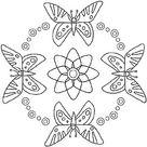 Sommer Mandala zum Ausdrucken und Ausmalen