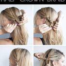 Hairstyle tutorial   Half crown braid   Hair Romance