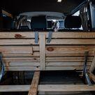 Campervan Selbstausbau Das Bett im VW T5 Transporter // take an adVANture
