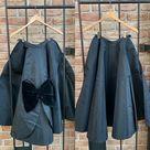 50s Cadillac Original Circle Swing Skirt Black Taffeta | Etsy