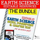 Earth Science PowerPoints, Notes, Chapter Tests Bundle   Distance Learning