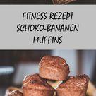 Die besten gesunden Schoko Bananen Muffins ohne Zucker, Mehl