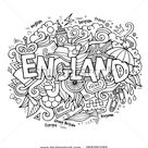 England Hand Lettering Doodles Elements Background Stock Vector (Royalty Free) 269291585