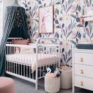 Moody, Removable Wallpaper, nursery wall decor, Nursery wallpaper, wallpaper, peel and stick wallpaper, baby girl pink nursery wall sticker