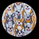 Psychedelic Cattle Dog Pocket Mirror - Blue & Red Heeler Art Gifts - Travel Sized Mirror Skin Care Tools and Make Up Bag Accessories