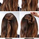 Lulus How-To: Half-Up Bun Hair Tutorial - Lulus.com Fashion Blog