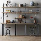 Industrial Pipe Shelves