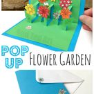 3D Flower Card DIY - Pop Up Cards for Kids - Red Ted Art - Make crafting with kids easy & fun