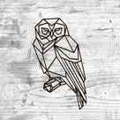 Metal Wall Art Geometric Owl Sign Home Decor Animal Interior   Etsy