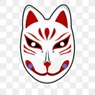 Cute Japanese Fox Mask, Japan, Fox, Mask PNG and Vector with Transparent Background for Free Download