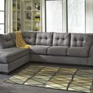 Maier Chaise Sectional - Charcoal / Left Arm Facing / Without Ottoman