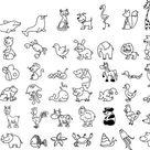 Ausmalbild Tiere: Wimmelbild Tiere zum Ausmalen kostenlos ausdrucken