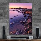 Metal Poster Cala Rossa A Beach In The North Of Sardinia In Italy. ...